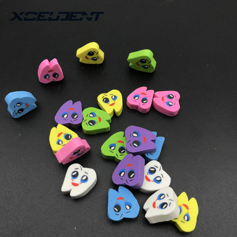 20pcs/bag Molar Shaped Tooth Rubber Erasers Dentist Dental Clinic School Gift Student Rubber