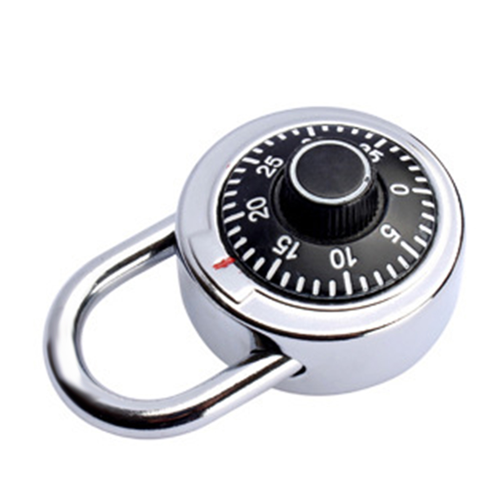 Door Luggage Security Rotatable Home Drawer Password Bicycle Luggage Coded Lock Alloy Round Digit Co