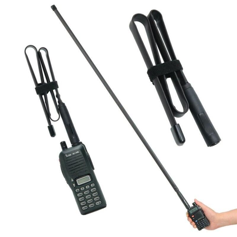 Folding SMA-Female Connector Dual Band 144/430Mhz Foldable CS Tactical Antenna For Walkie Talkie Baofeng UV-5R UV-82 Ham Radio