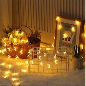 Image 1 - Wedding Decoration EID Mubarak Star Moon Led Lights Strip Decor EID Party Supplies Ramadan Muslim Islam Decor Party Favors,Q