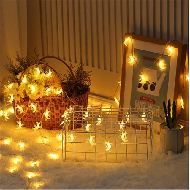 Wedding Decoration EID Mubarak Star Moon Led Lights Strip Decor EID Party Supplies Ramadan Muslim Islam Decor Party Favors,Q
