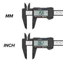 Paquímetro digital, 6 polegadas paquímetro para cilindro eletrônico de 100mm paquímetro micrômetro digital com ferramenta de medição régua de 150mm/0.1mm