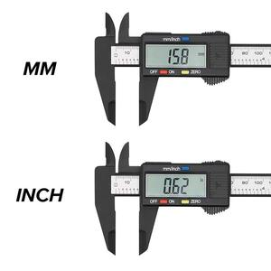 Digital Caliper 6 inch Electronic Vernier Caliper 100mm Calliper Micrometer Digital Ruler Measuring Tool 150mm 0.1mm(China)