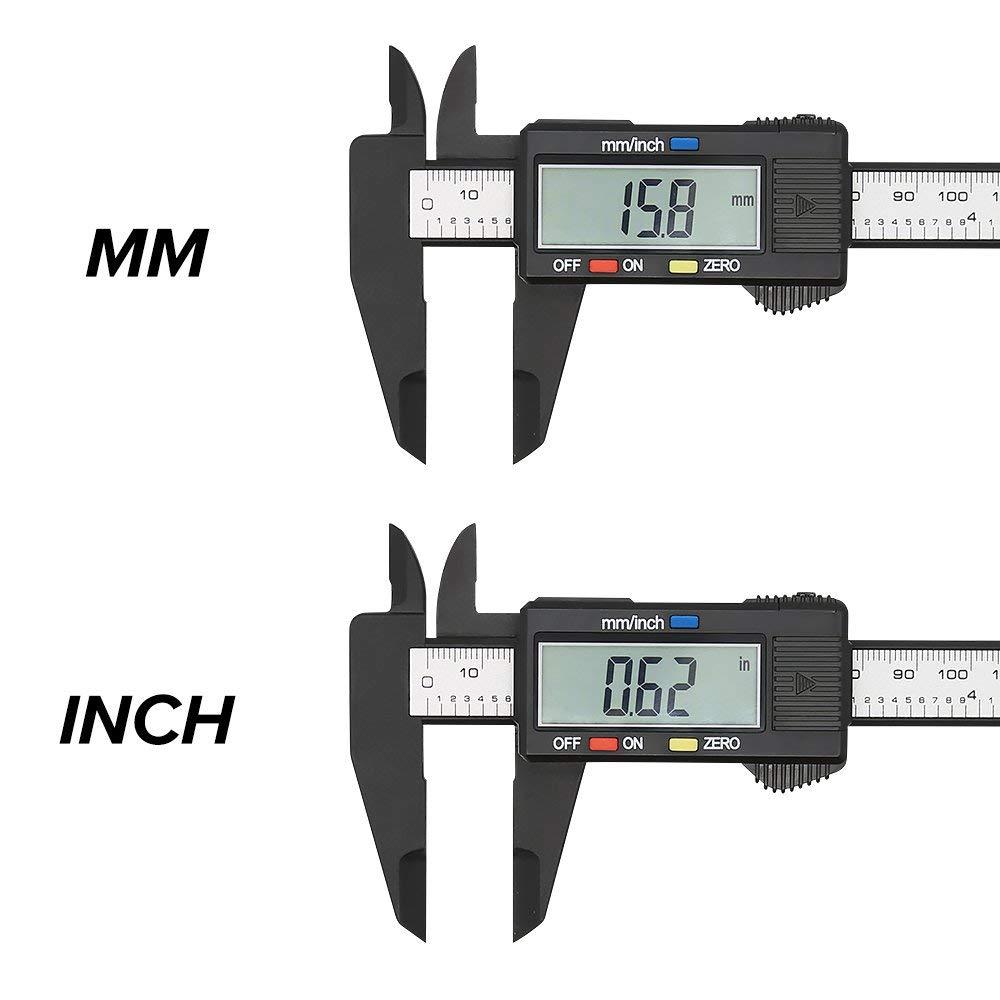 Pinça digital 6 polegada eletrônico vernier caliper 100mm calímetro micrômetro régua digital ferramenta de medição 150mm 0.1mm