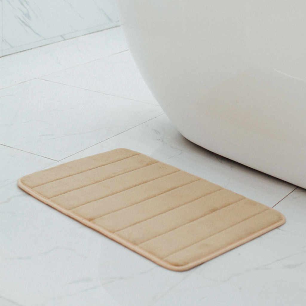 40 × 60 センチメートル吸水ソフト低反発マットカーペット浴室寝室の床敷物非スキッド新シャワールームマットアクセサリー