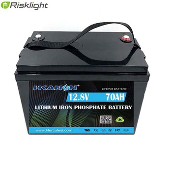 12V 70Ah 1kwh LiFePO4 Lithium Iron Phosphate Battery Deep Cycle Rechargeable Battery for RV Marine Power WheelsTrolling Motor image