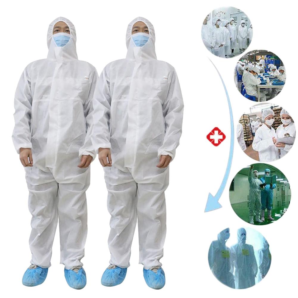 Coverall Disposable Anti-epidemic Antibacterial Plastic Closures Isolation Suit Prevent Invasion Of Virus For Medical Staff