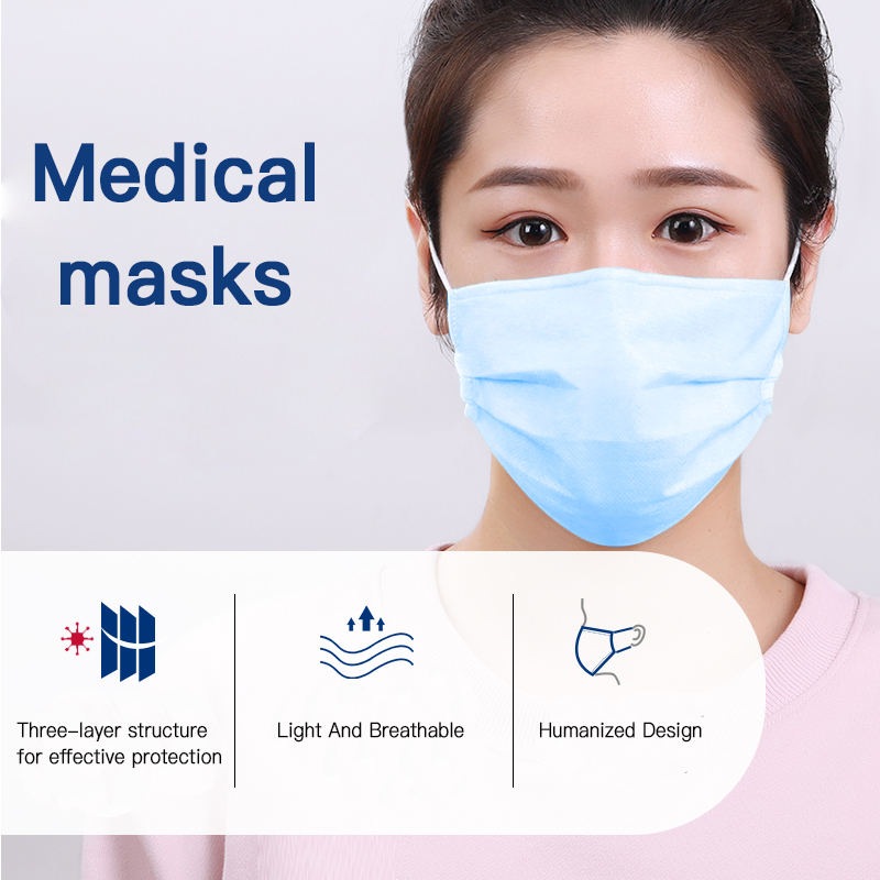10PC Disposable Household Mask Adult Mask Protective Child Mask, Anti-haze And Dust-Proof Three-layer Breathable Mask