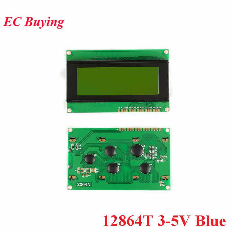 Modul LCD 1602 1602A J204A 2004A 12864 12864B T LCD Display Modul Biru Kuning-Hijau Tampilan Layar IIC I2C 3.3 V/5 V UNTUK ARDUINO