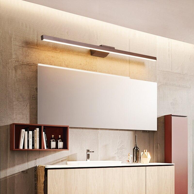 ac85 265v moderno levou espelho de luz de aluminio lampada de parede moderna luzes do banheiro