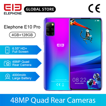 Перейти на Алиэкспресс и купить В наличии смартфон E10 Pro, 4 Гб 128 ГБ, 48 МП, четыре задние камеры, Восьмиядерный, 6,55 '', HD + дисплей, 4000 мАч, мобильные телефоны, NFC