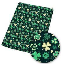 Хлопко бумажная ткань полиэфира лист из ткани с листьями мультипликационным