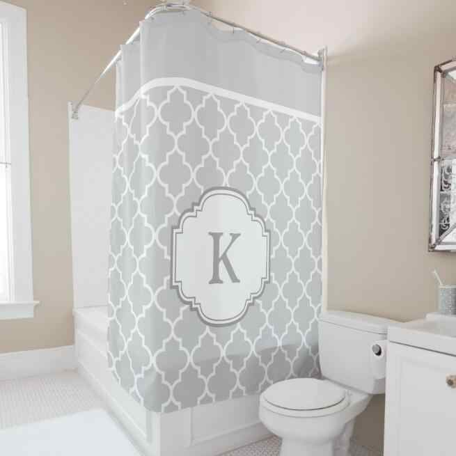 Quatrefoil Bathroom Shower Curtain