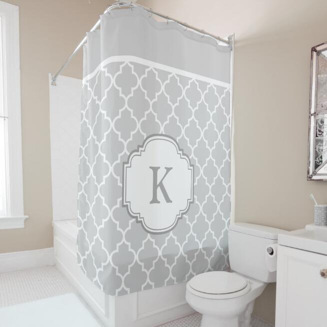 Quatrefoil Bathroom Shower Curtain