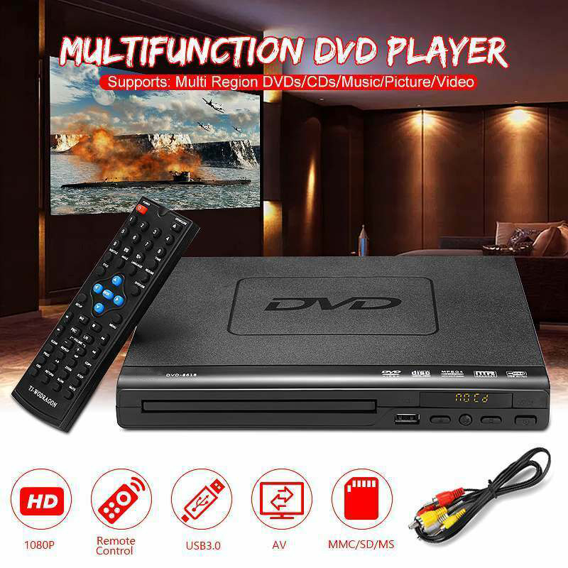EU DVD Player EVD Player Music Dis Player VCD Music Dis Player Home Theatre System With Romote Control 1 Inch Player Screen