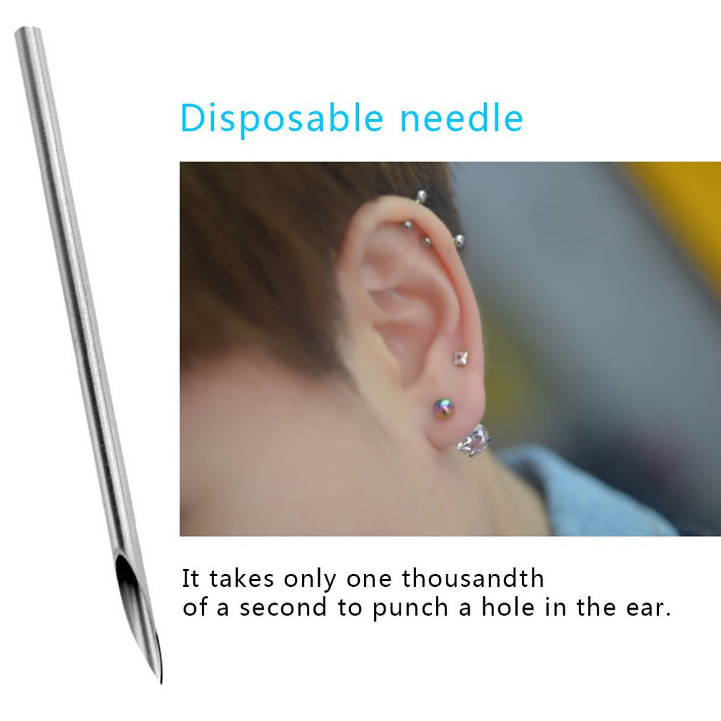 Clean Disposable Sterile Body Piercing Needles for Navel Ear Nose Tattoo Piercing Needles Tattoo Accessory