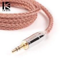 AK KBEAR 16 core kupfer kabel Mit 2.5/3.5/4,4 Kopfhörer Kabel Für KB06 C10 ZS10 TRN V90 BA5 BLON bl03 CCA C12 KZ ZSX QDC Tri i3