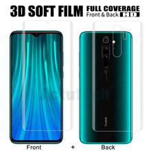 Front+Back 3D Full Cover TPU Film Screen Protector For Xiaomi Redmi Note 8 Pro Note 8 Soft Hydrogel Film (Not Tempered Glass) full cover hydrogel film for xiaomi redmi note 7 pro 9s screen protector gel tpu soft nano explosion proof guard for redmi 6 8