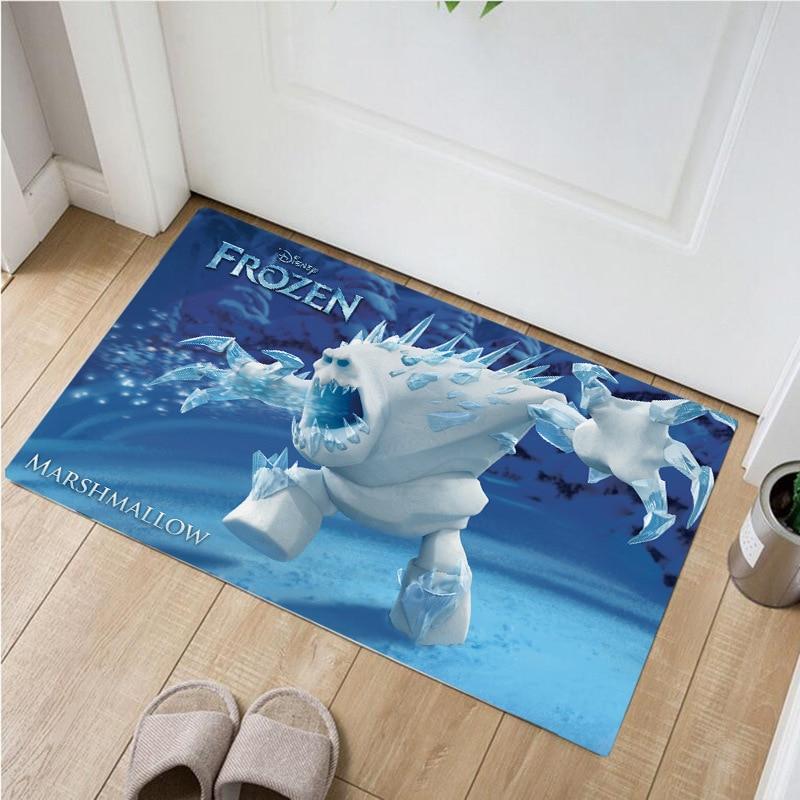 60x40cm Disney dessin animé reine des neiges cuisine tapis entrée porte tapis décor à la maison salon tapis chambre matelas tapis antidérapant