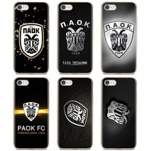 Paok Fc Thessaloniki Voetbal Logo Voor Iphone 11 Pro 4 4S 5 5S Se 5C 6 6S 7 8X10 Xr Xs Plus Max Voor Ipod Touch Soft Skin Cover(China)