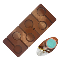 6 Hole Silicone Round Lollipop Mold For Starry Lollipops Chocolate Decoration Mould Confectioners Baking Tools Supplies недорого
