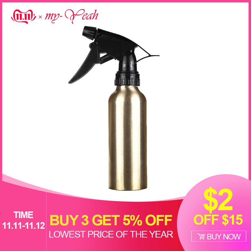 200ml Aluminum Pro Salon Hair Cutting Sprayer Atomiser Refillable Bottle Empty Water Spray Bottle Barber Hairdressing Tools