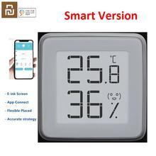 Youpin termómetro inteligente miaomiaoce, Sensor de temperatura y humedad con pantalla Digital e ink, funciona con la aplicación Xiaomi mi home mijia