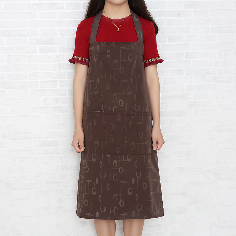 Modern Minimalist Printed Sleeveless Apron Home Waterproof Coffee Shop Work Clothes Bakery Shop Antifouling Overclothes