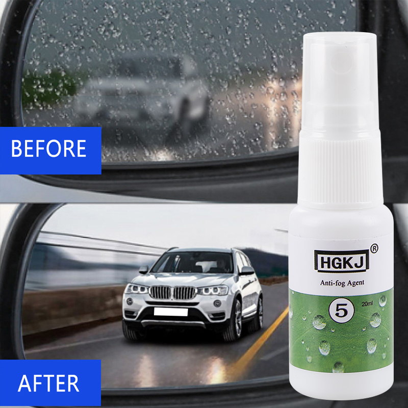 HGKJ-5- 20ml Anti-fog Agent Waterproof Rainproof Anit-fog Spray Car Window Glass Seat Cleaner Car Cleaning Car Accessories TSLM1