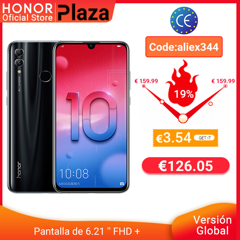 """Global version Honor 10 Lite Smartphone Kirin 710 6.21 """"2340X1080P 24MP front Camera Android mobile Phone"""