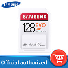 SAMSUNG EVO Plus de tarjeta SD de 128GB de tarjeta de memoria 100 M/s MicroSD de 32GB 64GB 256GB C10 UHS-I 4K y FHD cámara de vídeo tarjetas SDHC