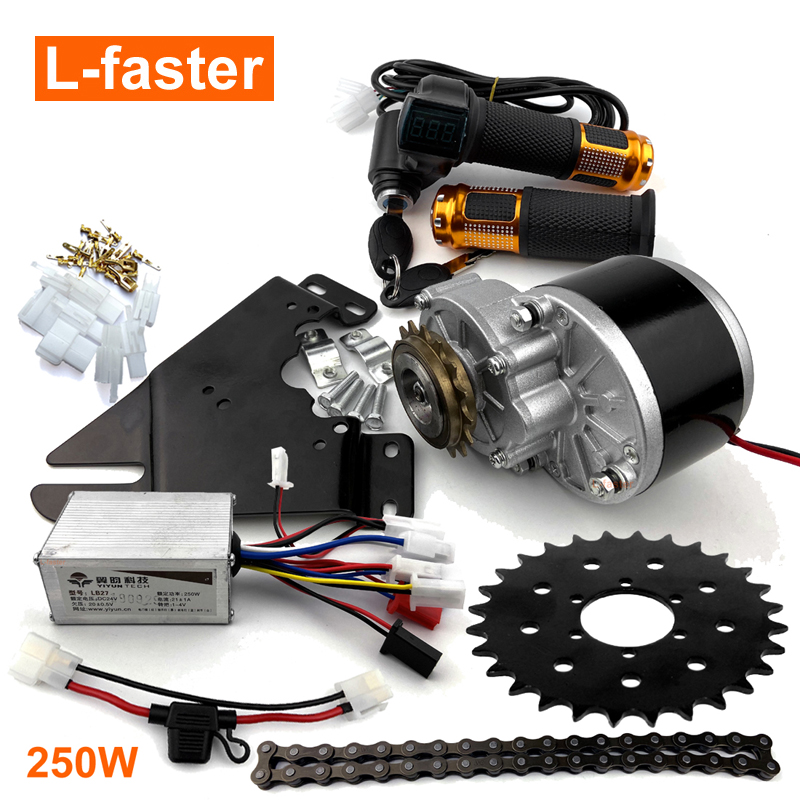 24V36V 350W Electric Mountain Bike Conversion Kit Customized Sprocket For 44mm
