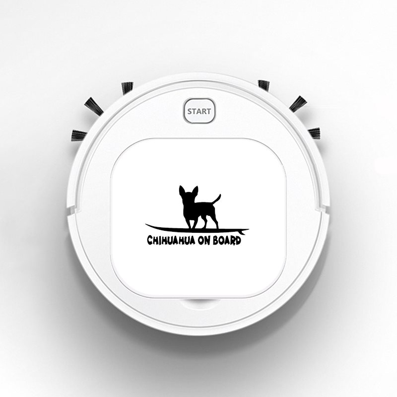 Auto USB Sweeping 1800Pa Multifunction Smart Robot Vacuum Cleaner Dry Wet Floor Cleaner Chihuahua On Board Funny Dog Breed