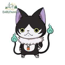 Earlfamily 13cm x 10.8cm para godside yo-kai relógio wiki gato decalque impermeável vinil adesivo de carro anime à prova de riscos decoração