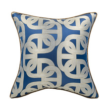 DUNXDECO Cushion Cover Decorative Pillow Case Modern Simple Geometric Jacquard 2019 Fashion Blue Coussin Sofa Bedding Decorating