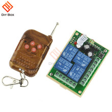 DC12V 4 Channel Relay Module Wireless Remote Control Switch