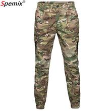 Mężczyźni moda Streetwear Casual kamuflaż spodnie dresowe do biegania taktyczne spodnie wojskowe męskie spodnie bojówki oddychające wodoodporne tanie tanio Ołówek spodnie Pełnej długości Mieszkanie REGULAR COTTON Poliester 29 92 - 38 19 Midweight Suknem Kieszenie Military