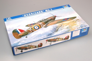 Trumpeter 02416 1/24 British Hurricane Mk.llC / TROP Fighter Plane Aircraft Military Assembly Plastic Model Building Kit image