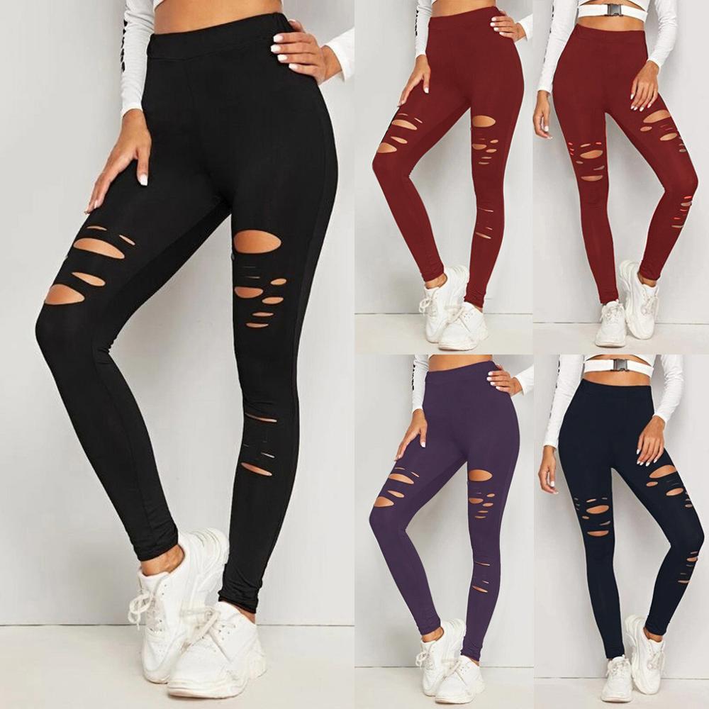 Ukuran Besar Untuk Wanita Seksi Legging Celana Yoga Sport Lubang Kasual Celana Wanita Legging Celana Breatha Untuk Gym W Yoga Pants Aliexpress