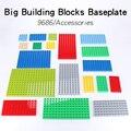 Grundlegende Bildung Ziegel Grundplatte Große Bausteine Kompatibel mit Duplo Set Zubehör Grundlegende Kreativität Spielzeug Kinder Geschenk