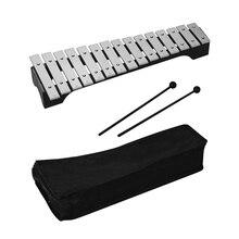 Orff перкуссия алюминиевое пианино деревянная рамка стиль ксилофон дети музыкальные забавные игрушки