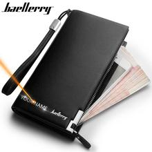 Baellerry Men Wallets Classic Long Style Card Holder Male Pu