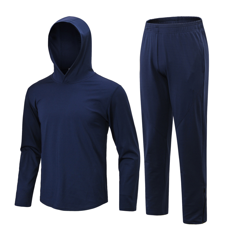 Winter Clothing Men's Tracksuit Sports Suit Quick Dry Fitness Running Jacket Long Pants Male Sportswear Sweatshirts 2XL