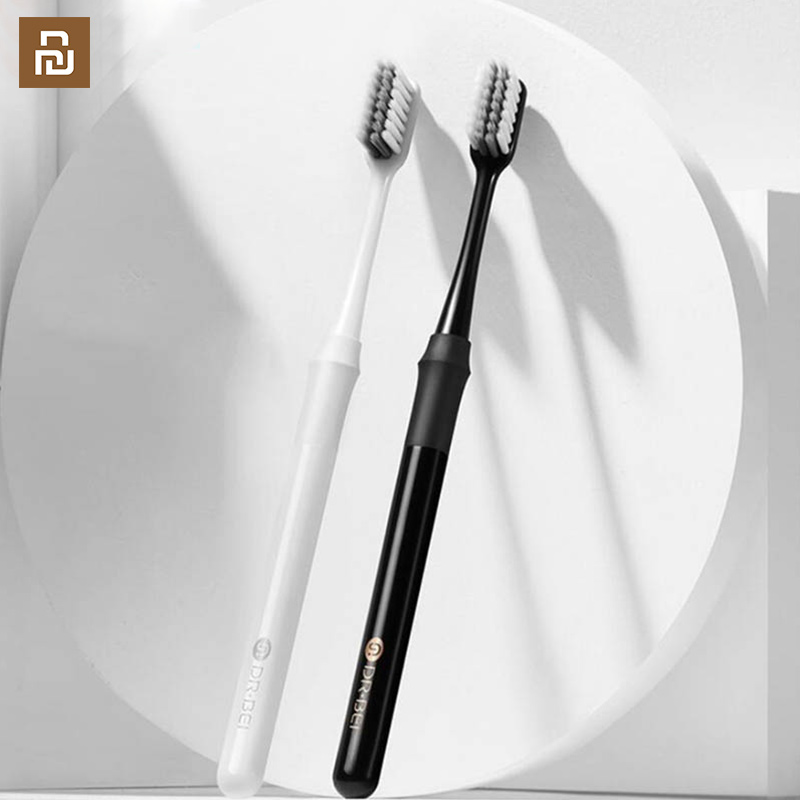 2 Colors Doctor B Toothbrush Mi Bass Method Better Brush Couple Including Travel Box for Smart Home image