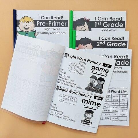 vista palavra fluencia piramide frases o pacote wooksheet criancas aprendendo em ingles exercicio leitura livros