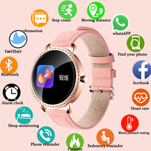 LIGE New 1.0 inch Women Smart Watch Men Waterproof Heart Rate Monitor Calories Blacelet For Android IOS iPhone + Box