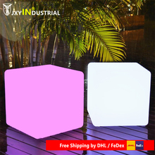 Led Cube chairs lamp Rechargeable cube stool /Led plastic outdoor Cube Chair 30cm led light cube lumineux led rechargeable cube illuminated cube chair free shipping