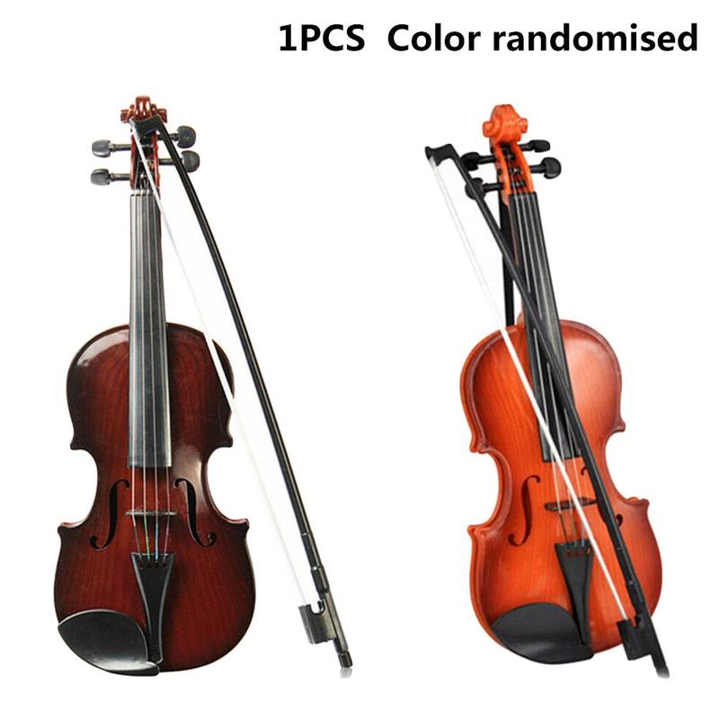 Simulation Violin Toys Adjustable String Musical Beginner Develop Kid Talent Bow Acoustic Violin Practice Demo Instrument