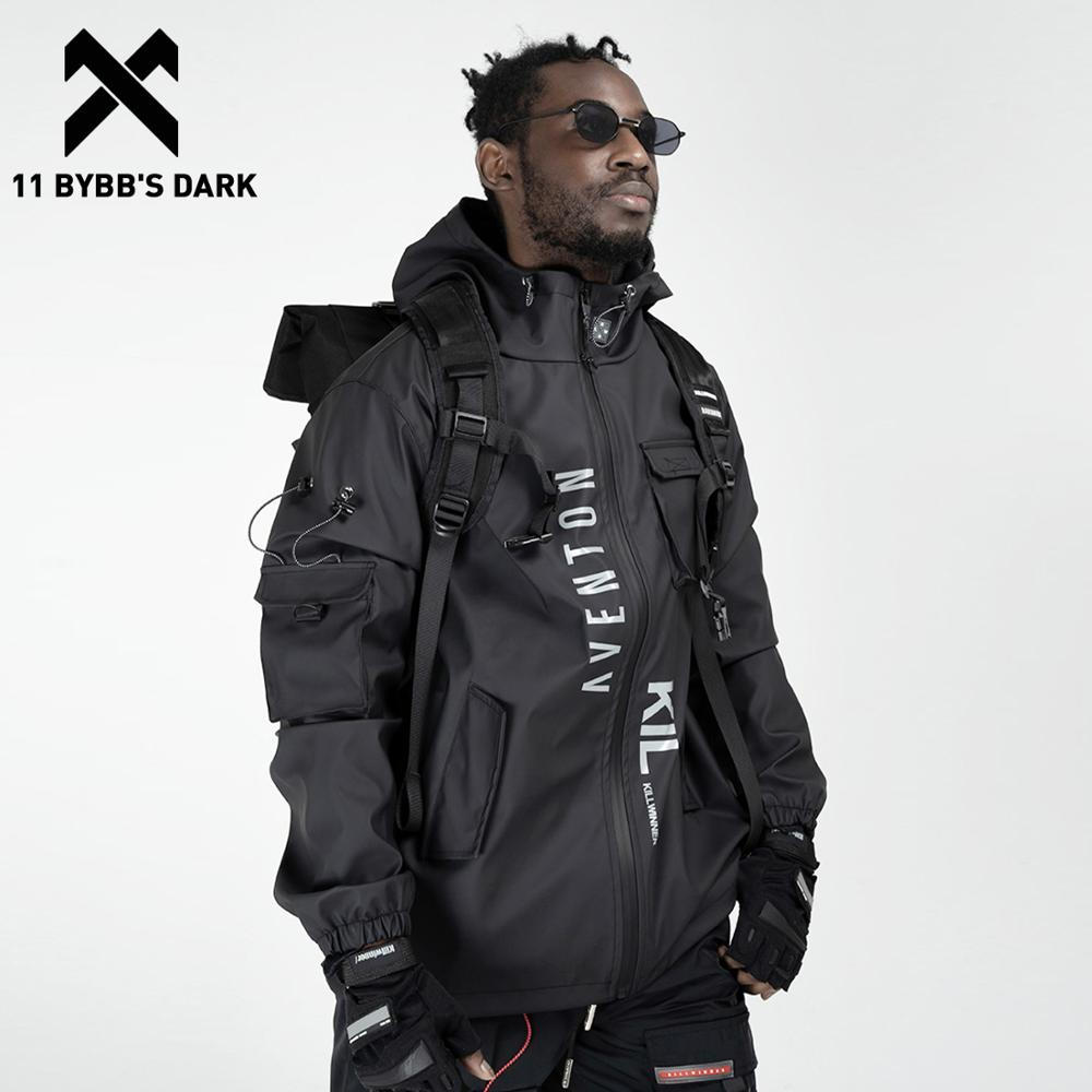 11 BYBB'S DARK Multi Pockets Patchwork Cargo Jackets Men Streetwear Hip Hop Outdoor Jackets Techwear Windbreaker Harajuku Coat