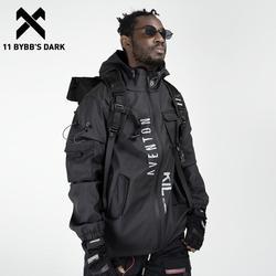 11 BYBB'S DARK Multi Pockets Patchwork Cargo Jackets Men Streetwear Hip Hop Outdoor Jackets Techwear Windbreaker Harajuku Coat